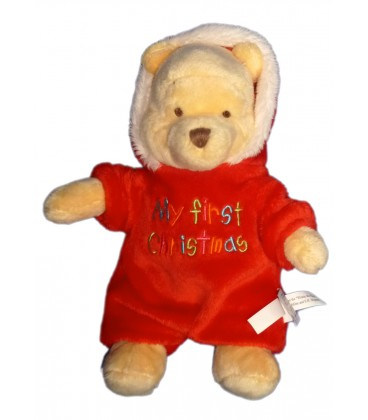 Doudou peluche WINNIE The Pooh Plush My First Christmas H 20 cm Disney Store