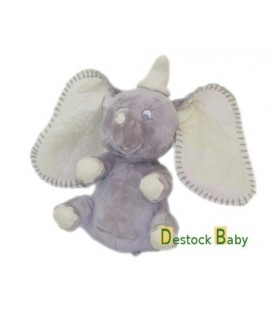 Peluche doudou Elephant gris Dumbo - 18 cm Disney Nicotoy - Etat NEUF
