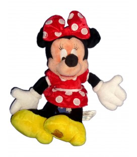 Doudou Peluche MINNIE Robe rouge pois blancs Disneyland Resort authentique Disney Store Disneyland