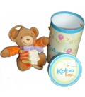 Doudou Musical KALOO Accordéon orange noeud mauve 123 kaloo box
