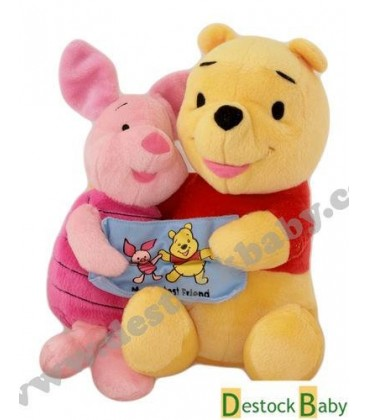 Peluche Winnie l'Ourson et Porcinet My Best Friends - 26 cm