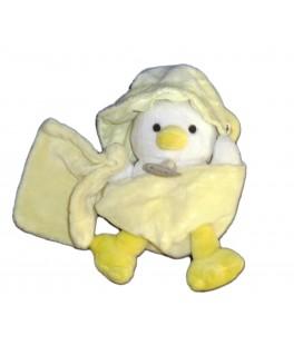 Doudou POUSSIN CANARD jaune Mouchoir - BABY NAT Babynat