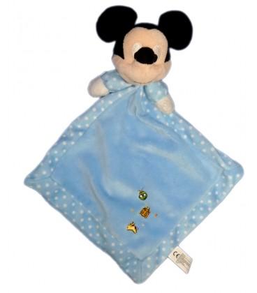 Doudou plat MICKEY bleu coccinelle pois blancs Losange Disney Nicotoy Simba Dickie 587/9480 23232