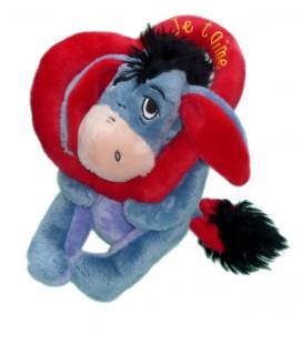Doudou Peluche BOURRIQUET Coeur Je t'aime H 18 cm Disney Nicotoy