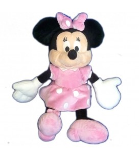 Peluche doudou MINNIE Rose pois blancs Disney club Nicotoy H 36 cm