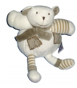Peluche Doudou OURS blanc MGM Dodo d'Amour H 20 cm assis