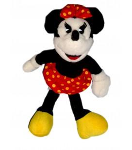 Peluche doudou Minnie Jupe rouge pois blancs Encore 1998 Style Vintage H 32 cm