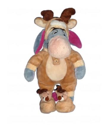 Peluche Doudou BOURRIQUET déguisé en Renne Noël H 25 cm Disneyland Disney