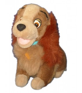 Peluche CHIEN Lady LA BELLE ET LE CLOCHARD L 35 cm H 30 cm Authentique Disney