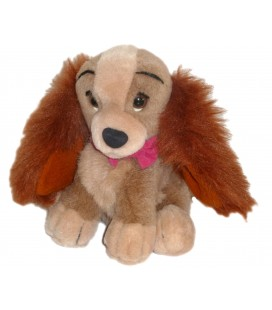 Peluche CHIEN Lady LA BELLE ET LE CLOCHARD H 19 cm Authentique Disney