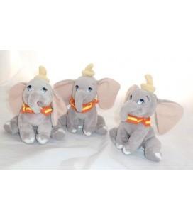 Lot de 3 Doudou peluche Elephant DUMBO - 18 cm