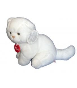 Peluche Doudou CHAT Chaton blanc TRUDI H 18 cm