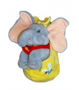 Peluche doudou DUMBO L'ELEPHANT VOLANT H 26 cm Flying Plush Sac jaune Cigogne Disneyland Resort Paris Authentique Disney
