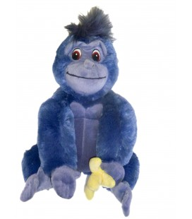 Peluche singe bleu TOK Plush Banane Tarzan DISNEY Authentique Disneyland Paris H 30 cm