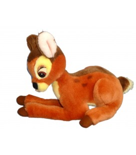 VINTAGE Peluche BAMBI DISNEY Authentique Euro Disney L 35 cm