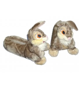 UNIQUE ! COLLECTOR ! Peluche doudou Pantoufles Chaussons Pan Pan Panpan T 36/37 Plush Slippers Disney