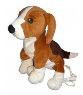 Peluche doudou CHIEN Beagle IKEA Marron blanc GOSIP VALP L 35 cm x 26 cm