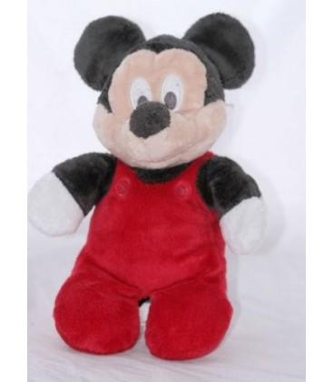 Doudou peluche MICKEY pyjama grenouillère rouge - Disney - 32 cm