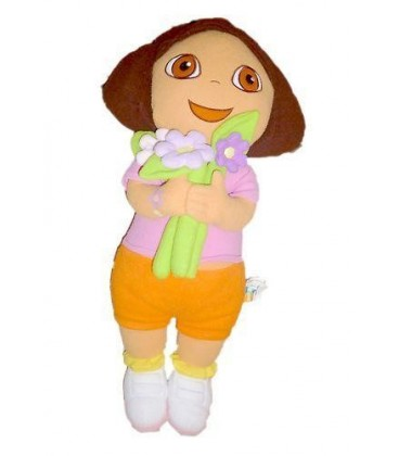 Grande Peluche - Dora L'exploratrice The Explorer Plush Flowers Fleurs 66 Cm