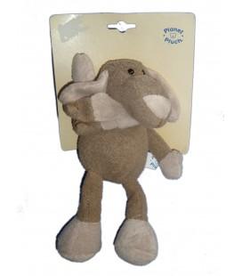 Doudou peluche CHIEN PLANET PLUCH Jemini gris H 26 cm Dog Baby Comforter