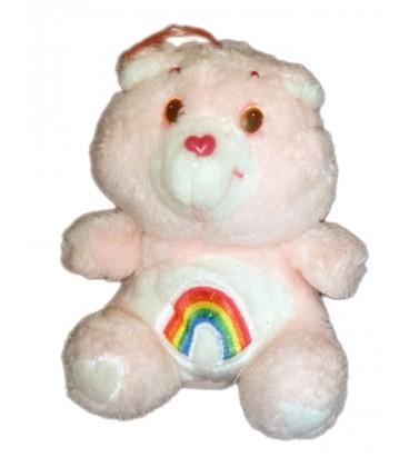 Vintage - Peluche Bisounours Care Bears Grosfarceur ou Gailourson rose Arc en ciel KENNER 16 cm