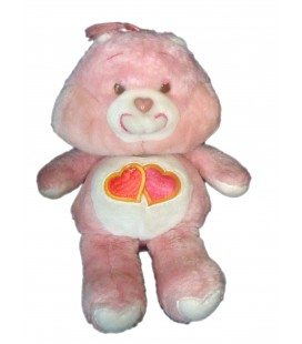Bisounours Groscheri Love A Lot Bear 2 coeurs - Peluche Vintage 34 Cm Kenner