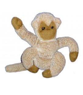 RARE Peluche Singe beige Marron beige Boulgom Monkey Plush H 26 cm Fabriqué Made in France VINTAGE