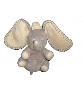 Peluche doudou éléphant gris Dumbo Disney Nicotoy 18 cm