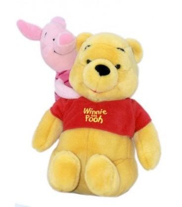 Doudou peluche Winnie et Porcinet 30 cm Disney Nicotoy