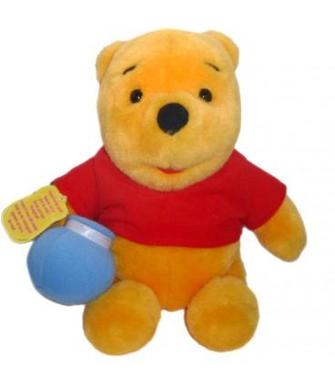 Peluche Winnie L Ourson The Pooh Disney Mattel 1997 H 26 Cm Pot De