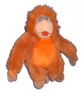 Doudou peluche SINGE orange ORANG OUTANG Roi Louis H 22 cm Walt Disney World