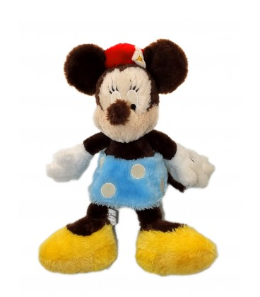 Peluche MINNIE - Longs poils - Authentique Disneyland Paris - 45 cm