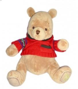 Doudou Peluche WINNIE L'OURSON The Pooh - 32 cm - Pull rouge capuche - Disney