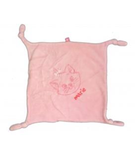 Doudou plat chat Marie Les Aristochats - 4 noeuds - Disney Etiquette coeur