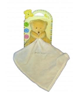 Doudou OURS Ourson beige Mouchoir - BABY NAT Babynat - BN3520