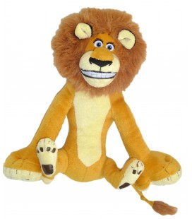 Doudou Peluche Lion Alex Madagascar - H 26 cm - Officielle Dreamworks