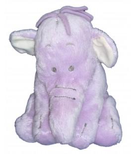 Doudou peluche LUMPY Efelant Elephant mauve 18 cm Original Disney Store Exclusive