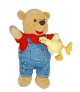 Doudou Peluche WINNIE L'OURSON The Pooh déguisé en fermier - Canard 20 cm Disney