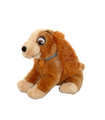 Doudou peluche chien Lady La Belle et le clochard Authentique Disneyland 35cm