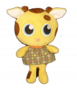 Doudou VACHE jaune marron ZOOMIES Jemini H 20 cm