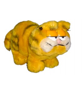 VINTAGE - Peluche doudou Chat GARFIELD - H 15 cm x 18 cm + queue
