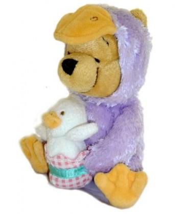 Doudou Peluche WINNIE L'OURSON The Pooh déguisé en canard + bébé - 16 cm Disney