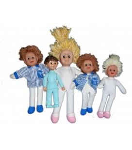 LOT REVENDEUR COLLECTIONNEUR Peluches Nounours Bonne nuit les Petits Poupées Pimprenelle Figurine Nicolas Caprice Masport