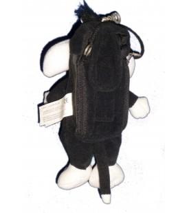 Doudou Range téléphone Porte Clé Saccoche Mobile - Gros Minet - H 22 cm