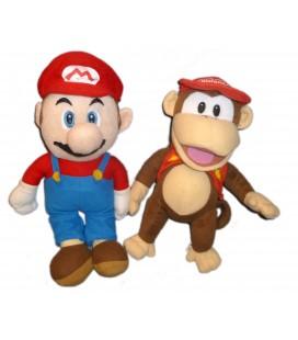LOT Peluche Mario Bros et Singe Diddy Nintendo H 35 cm Nintendo Plush Official