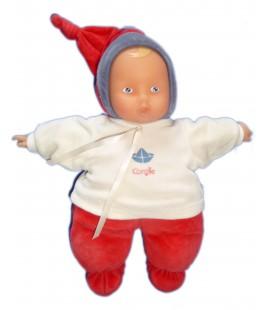 Doudou poupée Poupon Babipouce Babypouce COROLLE rouge blanc bateau 30 cm Babicorolle 2003