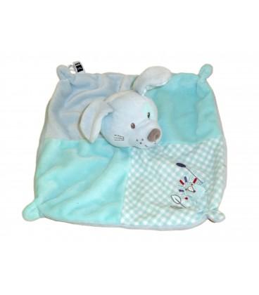Doudou plat chien Lapin bleu TEX Baby CMI Carrefour Herisson Ballon