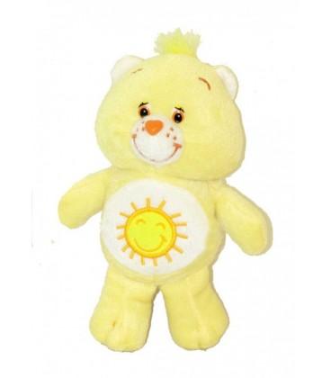 Peluche Bisounours Grosjojo jaune soleil Coeur Care Bears 22 cm JEMINI