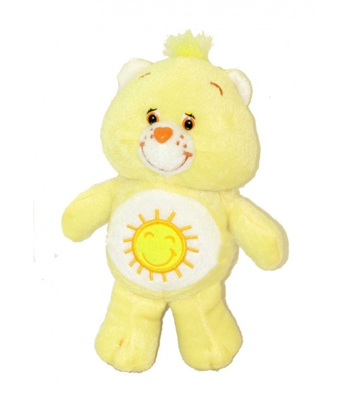 Doudou peluche bisounours grosjojo jaune soleil chez vous - Bisounours soleil ...