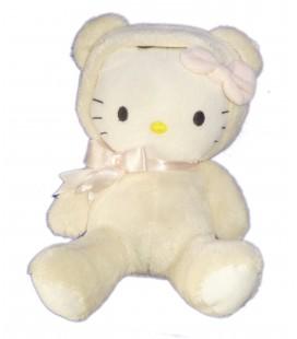 Doudou peluche HELLO KITTY - Déguisée en Ours - 20 cm - H&M - Licence Sanrio